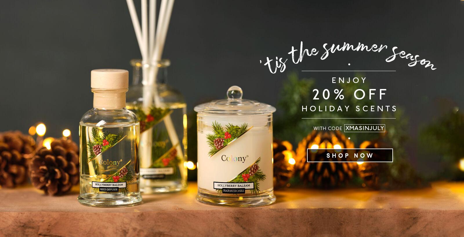 20% Off Holiday Fragrance w/ Code XMASINJULY
