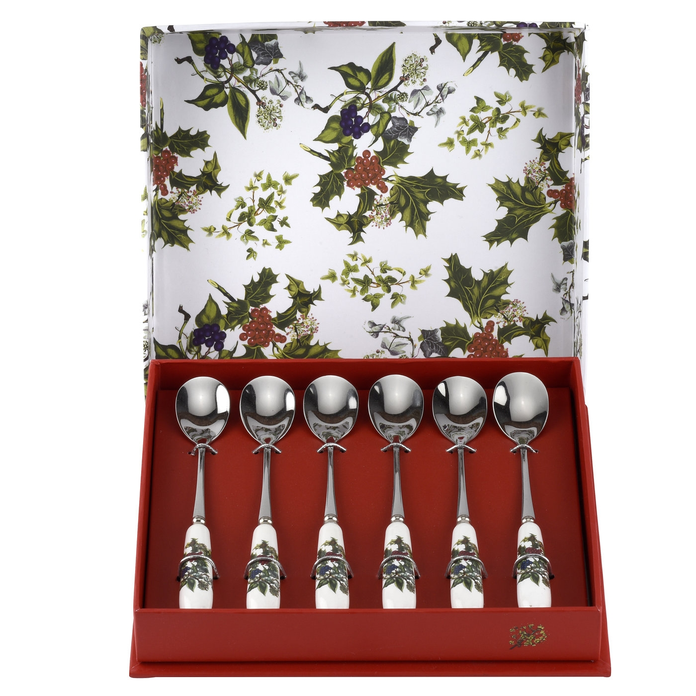 Portmeirion The Holly and The Ivy Set of 6 Teaspoons image number null