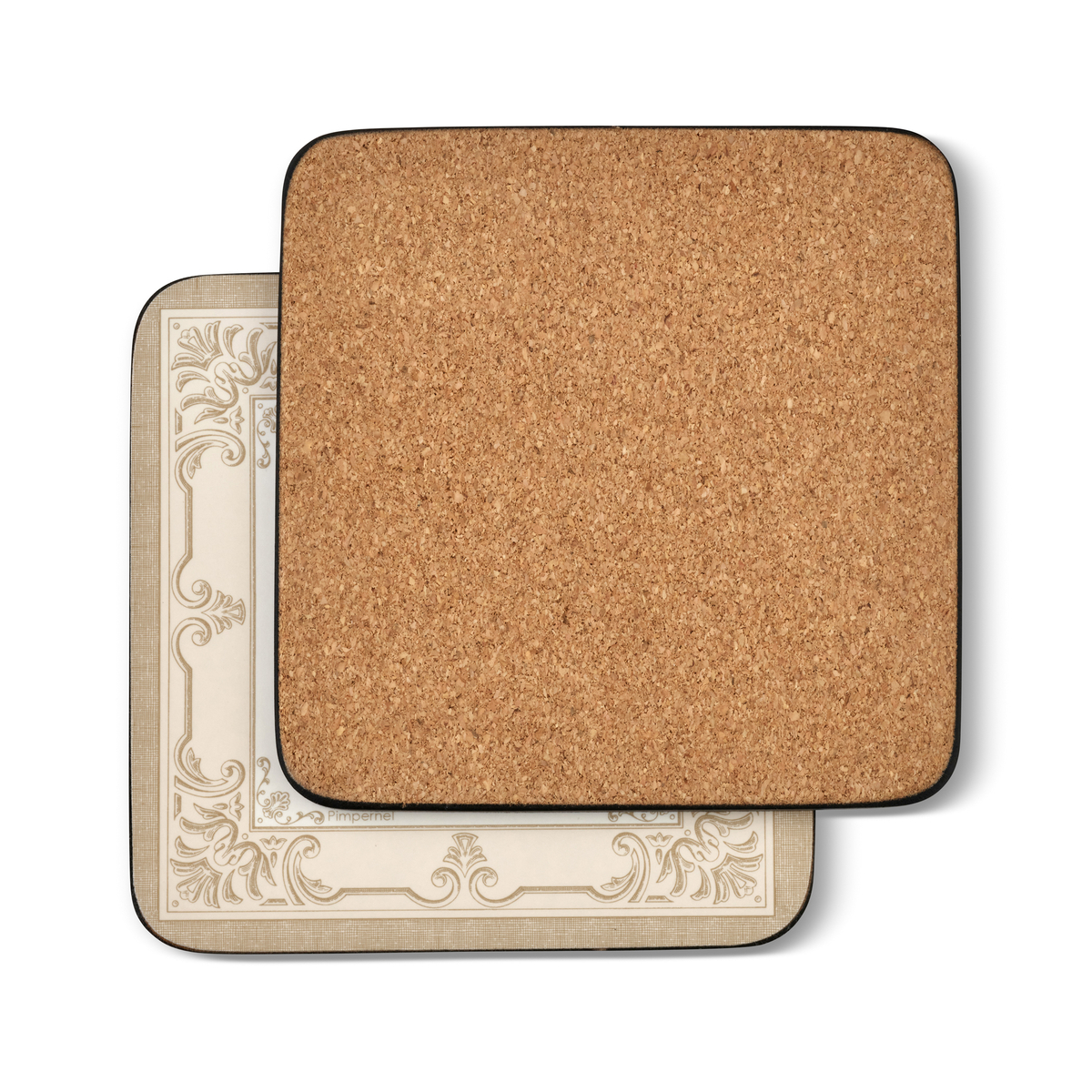 Pimpernel FDC-Fleur de Lys, Taupe/Gold Coasters Set of 6 image number null