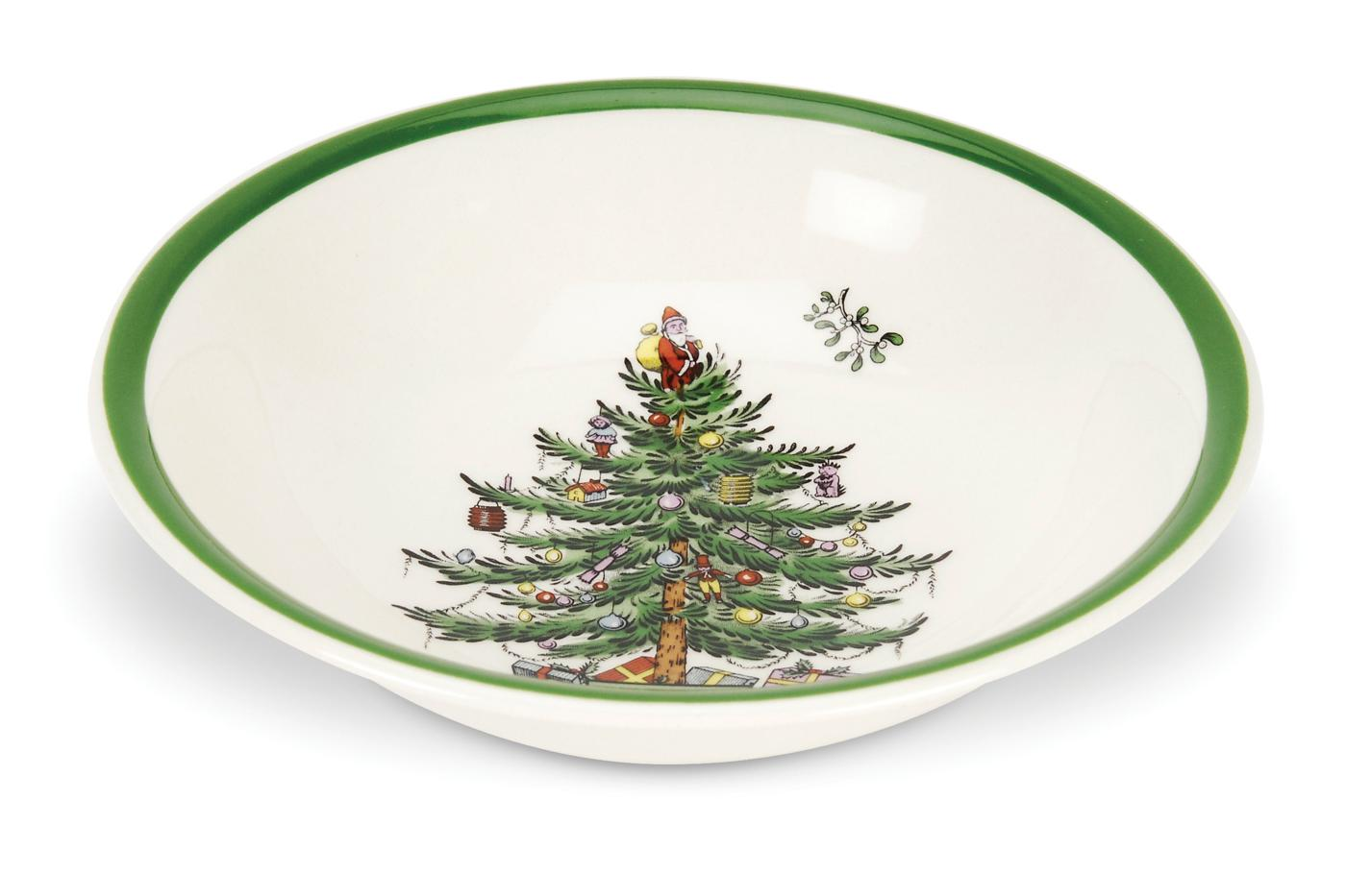 Spode Christmas Tree Set of 4 Ascot Cereal Bowls image number null
