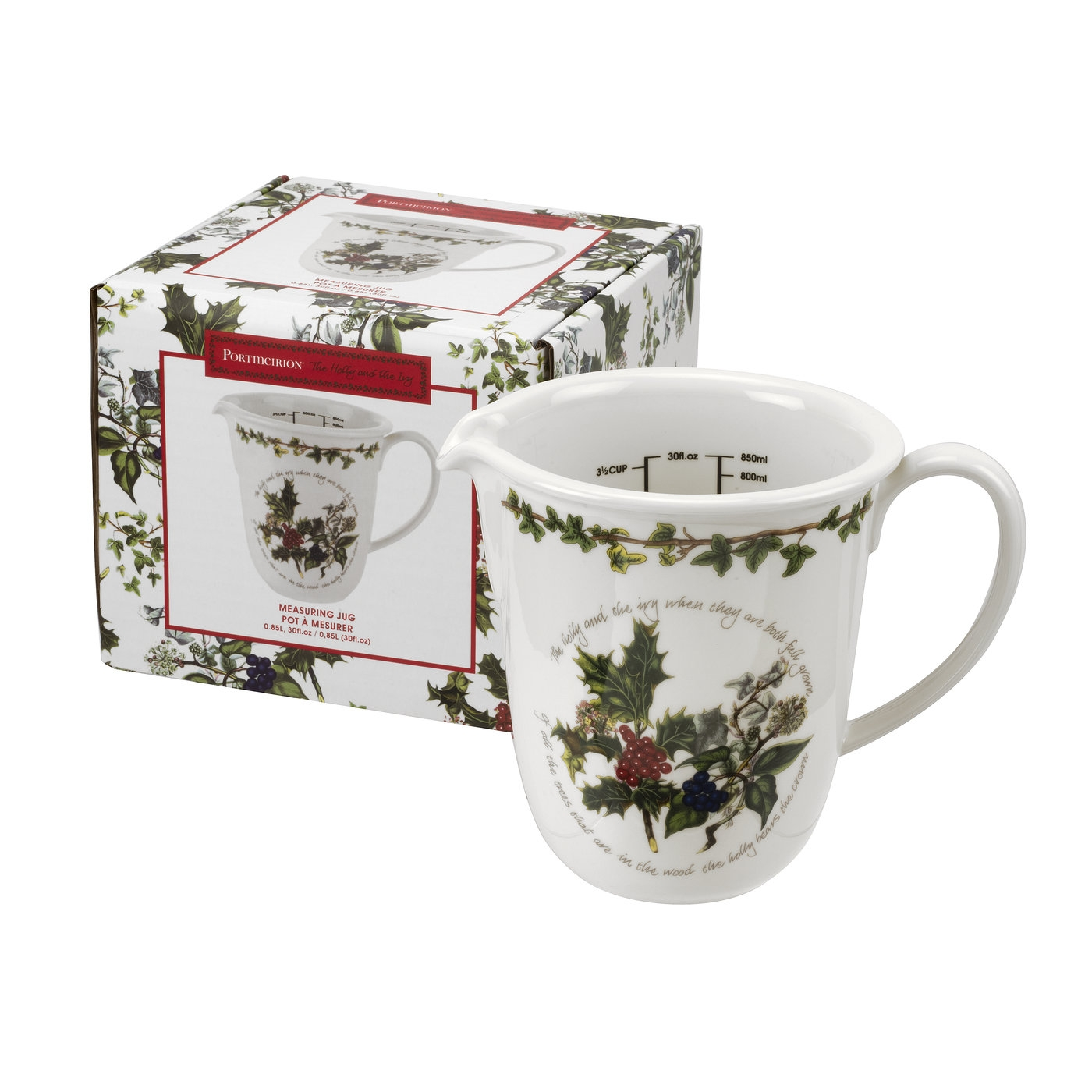 Portmeirion The Holly and The Ivy Measuring Jug image number null