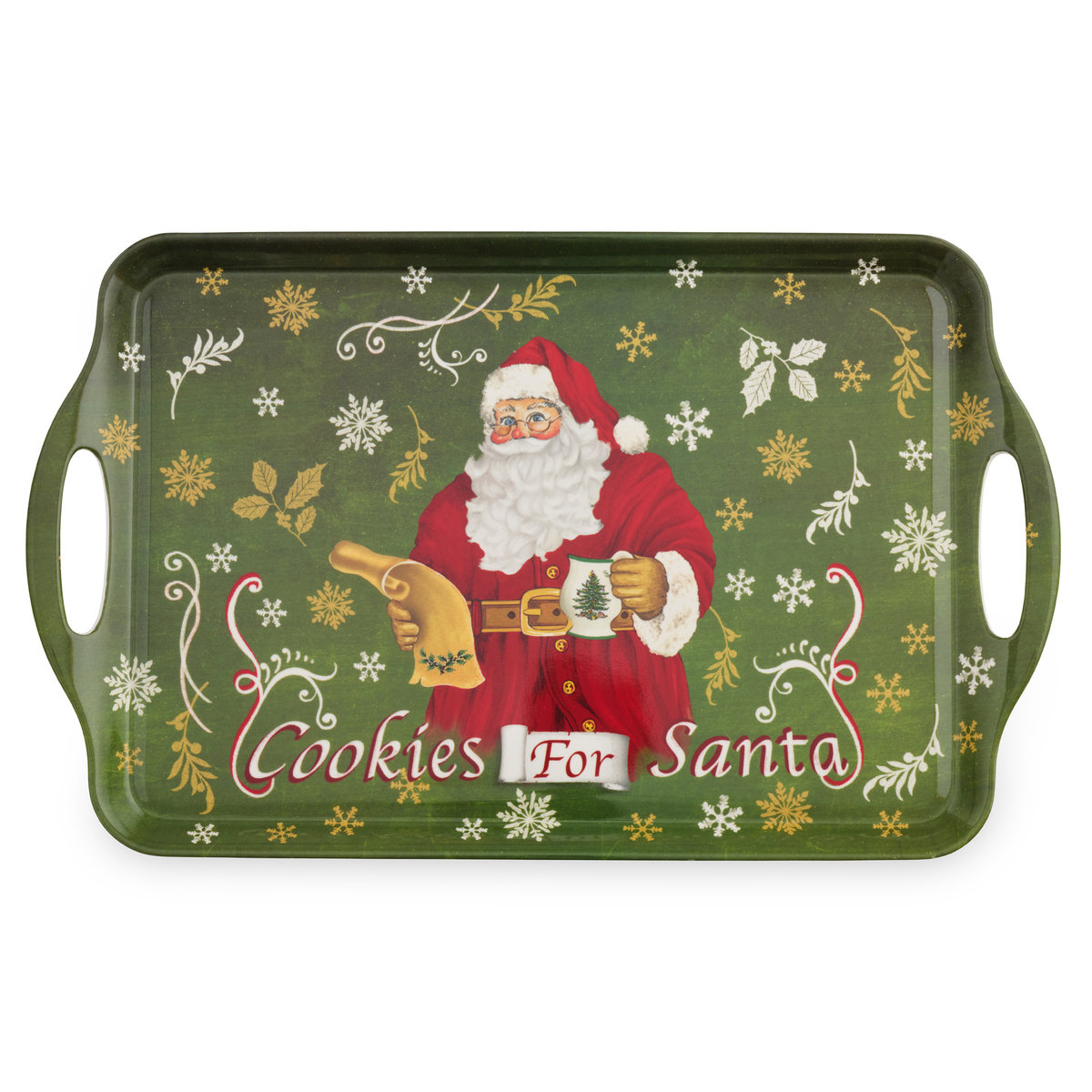 Pimpernel Christmas Tree Melamine Tray Cookie For Santa image number null