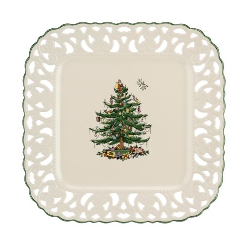 Spode Christmas Tree Pierced Square 12 Inch Platter image number null
