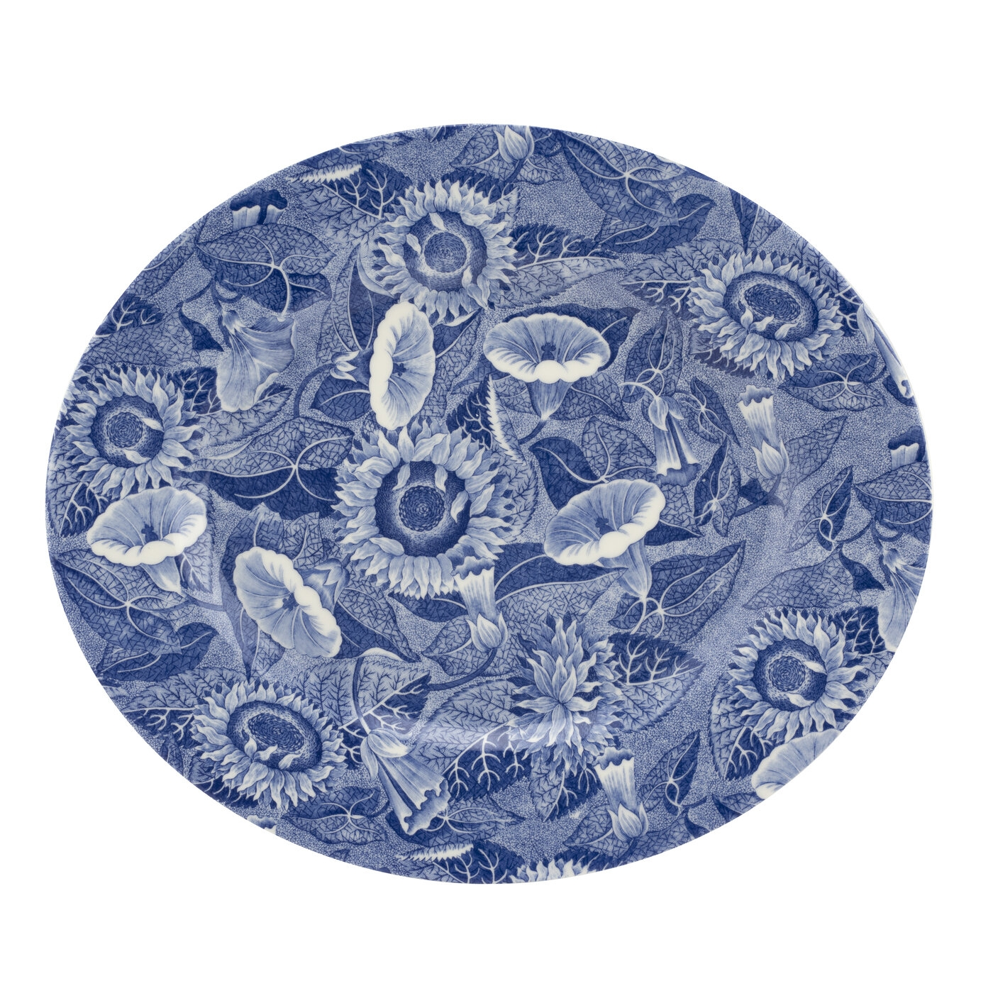 Spode Blue Room Sunflower 14 Inch Oval Platter image number null