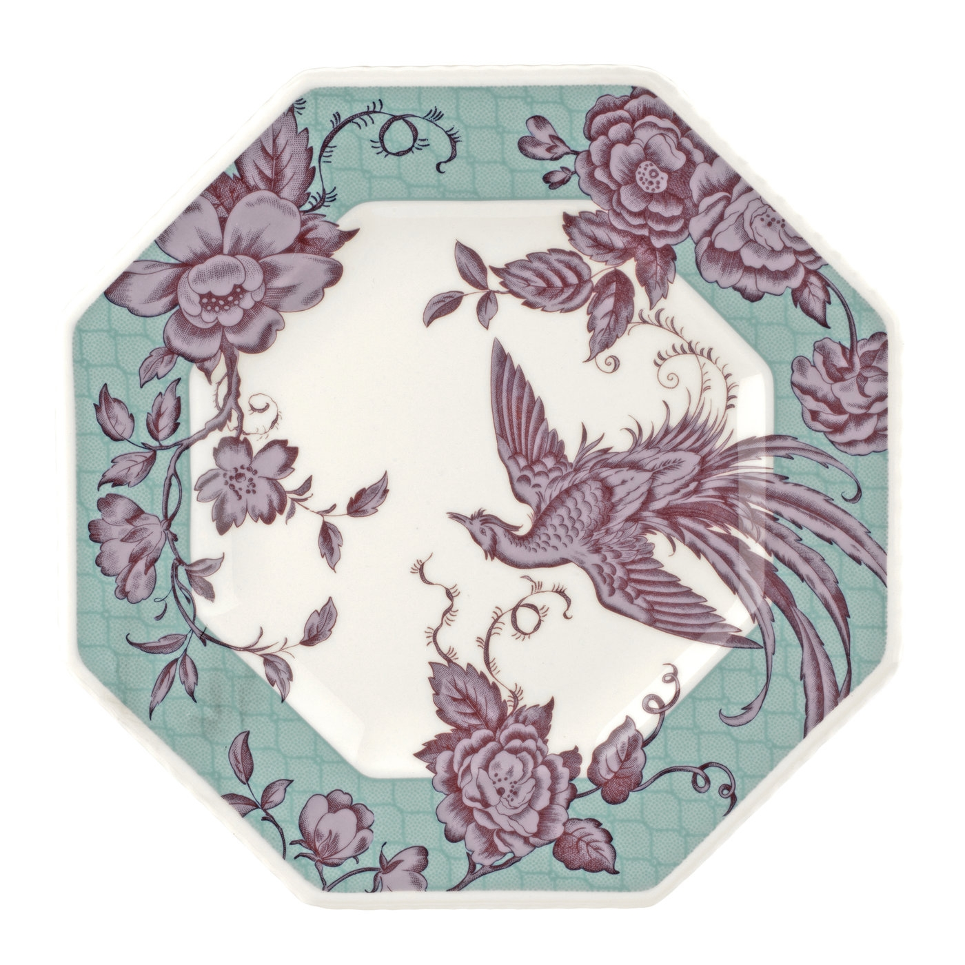 Spode Kingsley Teal 9.5 Inch Octagonal Plate image number null